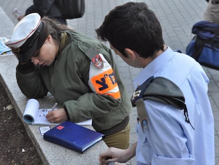 שוטרת צבאית במבצע מלביש