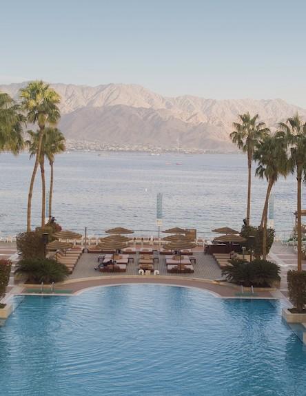 בריכה במלון מרידיאן אילת (צילום:  יחסי ציבור )