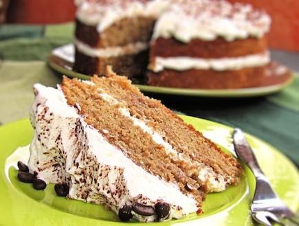 עוגת קפה לקפה - פרוסה (צילום: דליה מאיר, קסמים מתוקים)