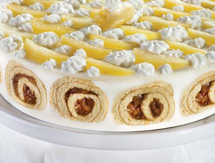 עוגת גבינה ושבלולי תפוחים (צילום: אנטולי מיכאלו, העוגות של פסקל, הוצאת קוראים)