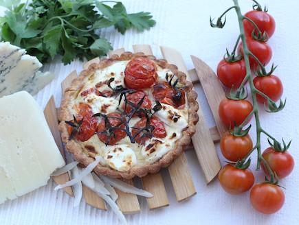 קיש עגבניות ים תיכוני (צילום: ליאת דולב, קישריה)