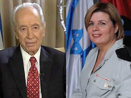 שמעון פרס ואורנה ברביבאי (צילום: חדשות 2)