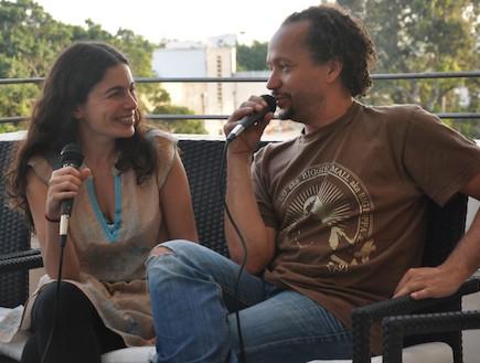יעל נעים מסיבת עיתונאים (צילום: טל אטרקצי)