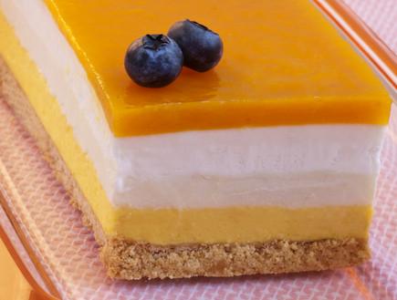 עוגת מוס גבינה ומנגו (צילום: עדי זיו-אב, מתוקה)