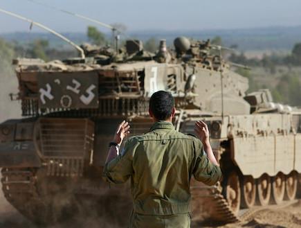 לוחם מכוון טנק (צילום: David Silverman, GettyImages IL)