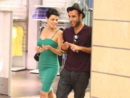 דנה רון עושה קניות עם סטייליסט (צילום: אלעד דיין)