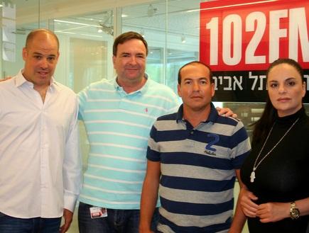 אופירה אסייג, ברקוביץ', דני נישליס ואודי מילנר (צילום: מערכת ONE)