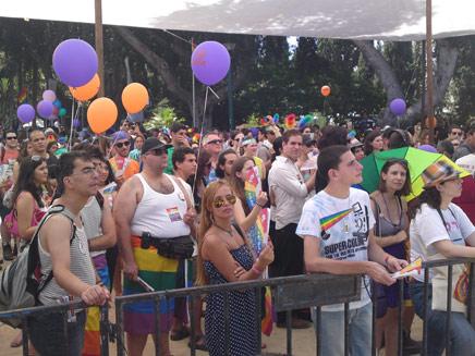 """מצעד גאווה בת""""א, בקרוב במלזיה? (צילום: חדשות 2)"""