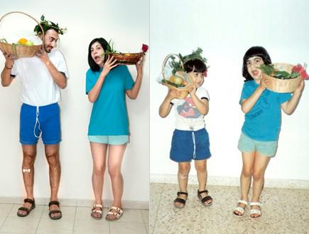 צבי ואחותו - פלאשבק (צילום: תומר ושחר צלמים)