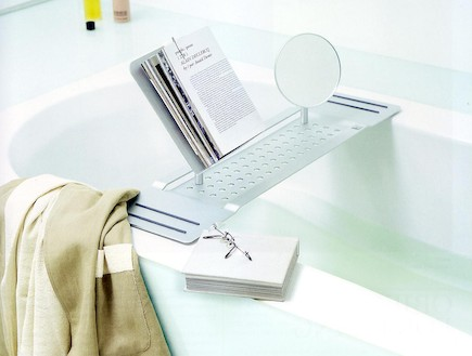 מעמד לספרים לאמבטיה-  חזי בנק-  2200שח-שבוע הספר