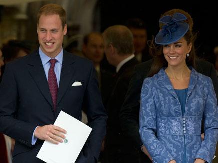 הנסיך והדוכסית, אתמול (צילום: AP)