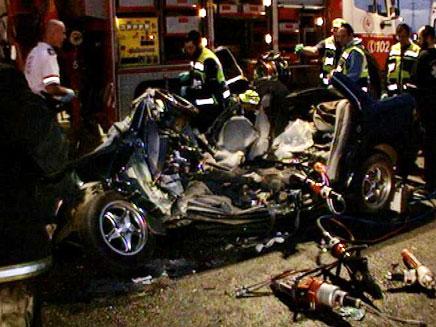 זירת התאונה הקטלנית (צילום: חדשות 2)