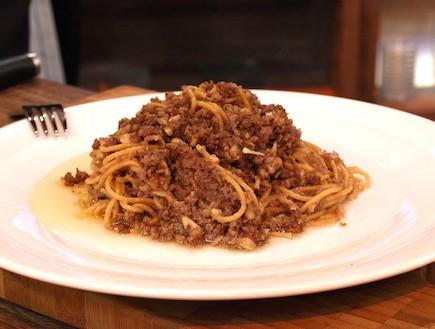 פסטה עם בשר טחון (צילום: רועי ברקוביץ')