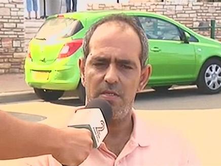 משה פיטוסי עד ראייה לפיצוץ בבלון גז בנתניה (צילום: חדשות 2)