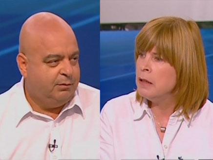 """מנכ""""לית סטמצקי ומנכ""""ל צומת ספרים (צילום: חדשות 2)"""