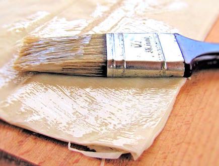 עוגת גבינה וחלבה - פילו ומברשת (צילום: דליה מאיר, קסמים מתוקים)