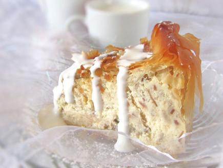 עוגת גבינה וחלבה - פרוסה (צילום: דליה מאיר, קסמים מתוקים)