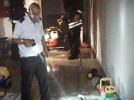 שריפה בגן ילדים (צילום: חדשות 2)