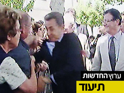 נשיא צרפת הותקף (צילום: חדשות 2)