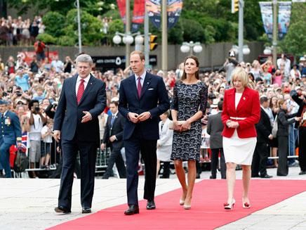 משפחת המלוכה הבריטית בקנדה (צילום: חדשות 2)