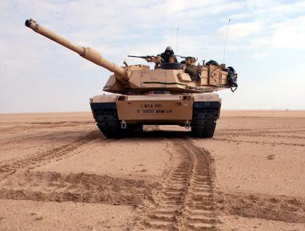 טנק אמריקני M1A2אברמס (צילום: Scott Nelson, GettyImages IL)