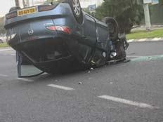 הרכב התהפך - וצעיר נהרג. ארכיון (צילום: חדשות2)