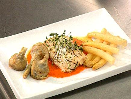 האודישן של מיכל ממן:לוקוס צרוב עם אספרגוס וארטישוק (תמונת AVI: mako)