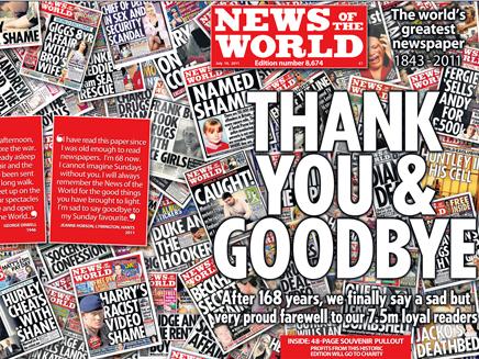 """הגיליון האחרון. """"תודה ולהתראות"""" (צילום: AP)"""