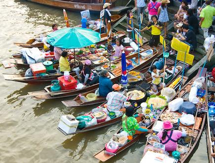 השוק הצף באמפאווה תאילנד (צילום: משרד התיירות של תאילנד , האתר הרשמי)