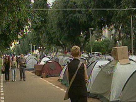 """מחאת האוהלים, ת""""א"""
