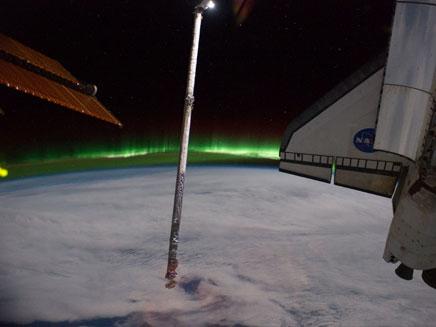 אורות הזוהר הדרומי - מהחלל (צילום: AP)