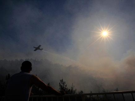 שריפת ענק פרצה בגליל המערבי. ארכיון (צילום: רויטרס)