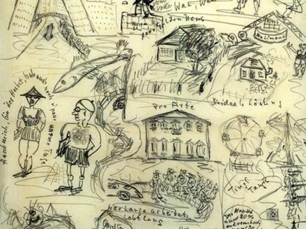 איוריו של מנגלה, מתוך הארכיון (צילום: אתר בית המכירות: Alexander historical auctions)