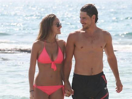 טומי אלתגר ואיילה רשף בים, יולי 2011 (צילום: אלעד דיין)