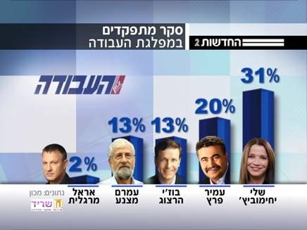 סקר: יחימוביץ' מובילה במרוץ (צילום: חדשות 2)