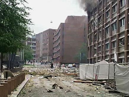 הנזק מהפיצוץ היה נרחב (צילום: AP)