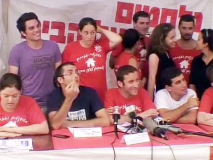 """מאהל המחאה בת""""א. הגיבו בביטול (צילום: חדשות 2)"""