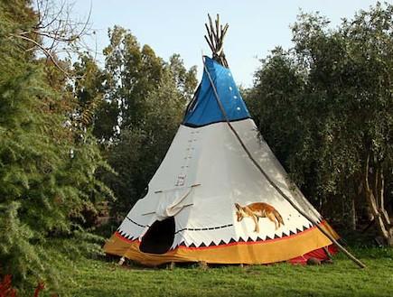 אוהל אינדיאני אבני איתן - אוהלים בארץ (צילום: האתר הרשמי)