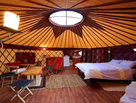 אוהל מונגולי אבני איתן - אוהלים בארץ