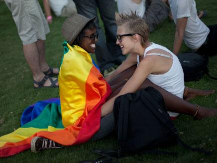מרתון נישואין חד מיניים. ארכיון (צילום: AP)