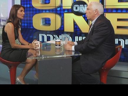 אלונה ברקת ופיני גרשון באולפן ONE ON ONE (צילום: מערכת ONE)