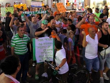 ההפגנה בשכונת התקווה (שי לוי) (צילום: מערכת ONE)