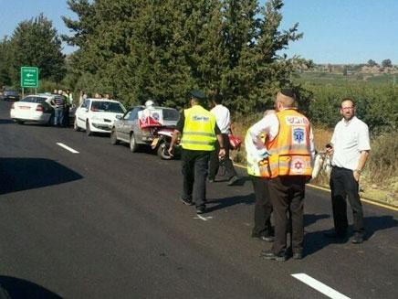 """תאונת דרכים קשה בספסופה (צילום: זק""""א)"""