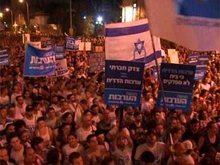 המחאה מתחדשת בכיכר רבין (צילום: חדשות 2)