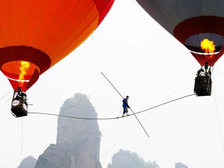 צפו בפעלולן הסיני (צילום: AP)