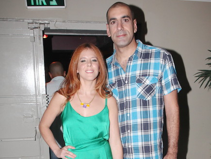אירוע הוט קומדי סנטרל קובי מימון ואשתו (צילום: ראובן שניידר)