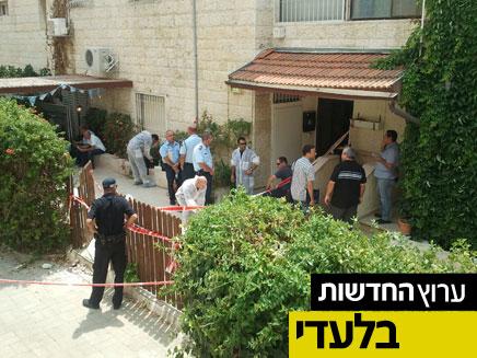 זירת הרצח, רמות, ירושלים (צילום: חדשות 2)