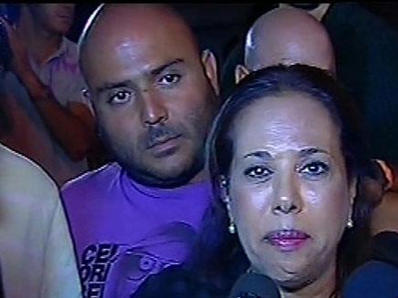 מרגול ואטדגי בעצרת המחאה בבאר שבע (צילום: חדשות 2)