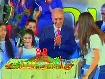 הצטרפו ליום ההולדת של הנשיא בשידור חי (צילום: חדשות 2)