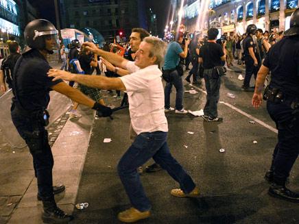 התפרעויות מדריד (צילום: חדשות 2)